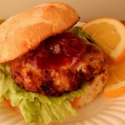 Kosher Broiled Turkey Burgers with Cranberry Sauce