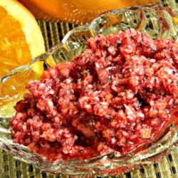 Easy Cranberry Orange Relish Recipe