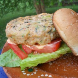 Asian Zucchini-and-Chicken Burgers Recipe