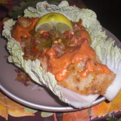 Fish Taco Cabbage Wraps |