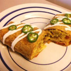 Summer Squash Burritos Recipe