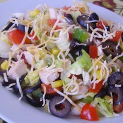 Super Tex-Mex Chicken Chop Salad Recipe