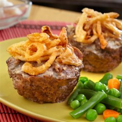 Mini Meatloaves with French Fried Onions