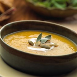 Butternut Squash Soup with Apples and Sage Recipe