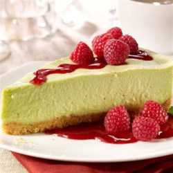 Avocado Cheesecake with Walnut Crust |