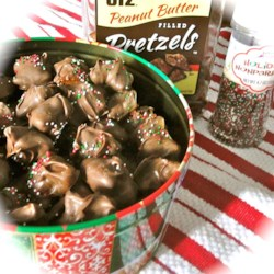 Chocolate Covered Peanut Butter Filled Pretzels