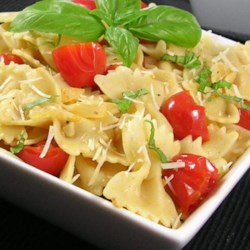 Shells with Cherry Tomatoes, Basil & Parmigiano-Reggiano Cheese