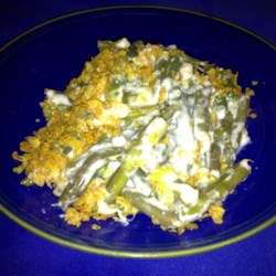 Swiss Cheese Green Bean Casserole Recipe