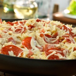 Pepperoni White Pizza Skillet Recipe