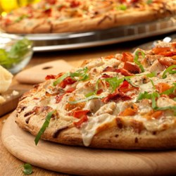 White Chicken Pizza
