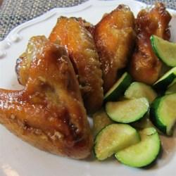 honey garlic chicken wings printer friendly