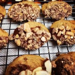 Maple Toffee Shortbread Cookies