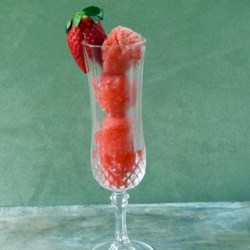 Champagne Sorbet with Berry Medley Recipe