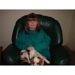 Me (Sarah) with Xander the dog