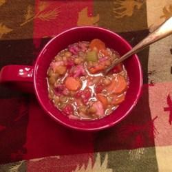 Jana's Pressure Cooker Lentil Ham Soup Recipe