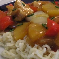 Stir-Fried Chicken With Pineapple and Peppers Recipe