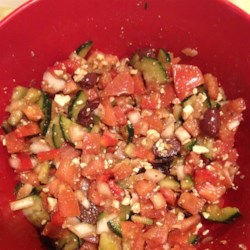 Greek Cucumber Salad  Recipe