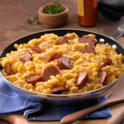 Skillet Mac and Cheese & Kielbasa Recipe