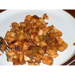 Chicken Chili Hash With Peppers & Cilantro