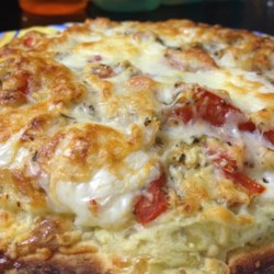 Cheesy Breakfast Pizza Recipe