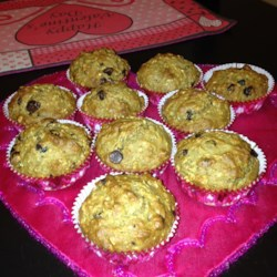 Healthy Banana Chocolate Chip Oat Muffins Recipe