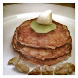 Deliciously Healthy Paleo Pancakes With Banana and Walnuts