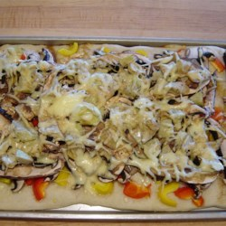 Portobello Mushroom, Fresh Peppers and Goat Cheese Pizza Recipe