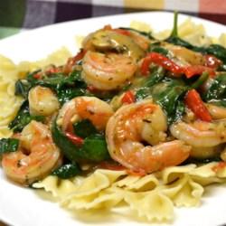 My Special Shrimp Scampi Florentine