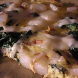 spinach and potato frittata