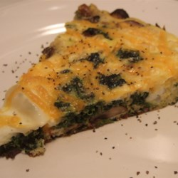Spinach, Bacon, and Mushroom Frittata