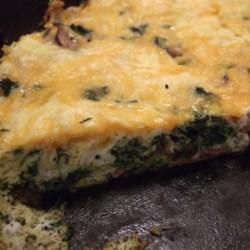 Spinach, Bacon, and Mushroom Frittata 2