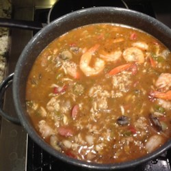Roux-Based Authentic Seafood Gumbo with Okra