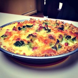 Easy Broccoli and Ham Quiche Recipe