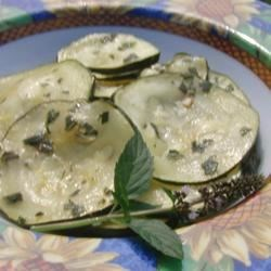 Minted Marinated Zucchini Recipe