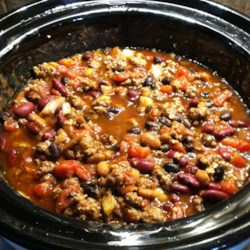 Slow Cooker 3-Bean Chili Recipe