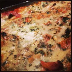 Low Fat Cheesy Spinach and Eggplant Lasagna Recipe