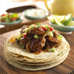 Pork Carnitas with Cilantro Tomatillo Sauce Recipe
