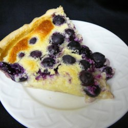 Lemon Blueberry Custard Pie Recipe