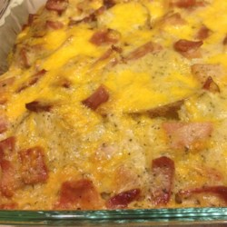 Cheesy Scalloped Potatoes with Ham |