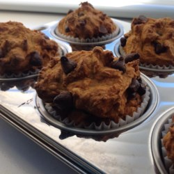 Low-Fat Vegan Pumpkin Chocolate Chip Muffins