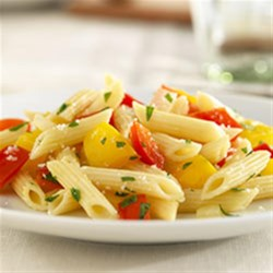 Barilla(R) White Fiber Mini Penne with Sweet Peppers and Parmigiano-Reggiano Recipe