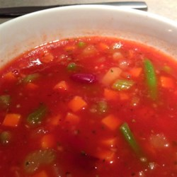 Colene's Easy Tomato Vegetable Soup Recipe