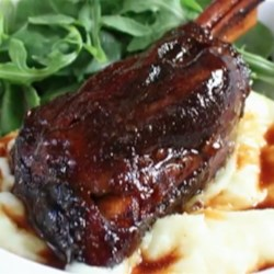 Saba-Braised Lamb Shanks  Recipe