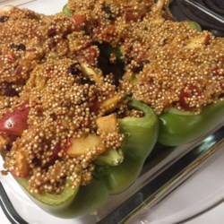 Vegetarian Stuffed Red Bell Peppers Recipe