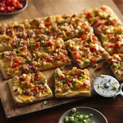 Loaded Bacon Potato Pizza Recipe