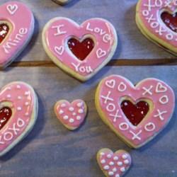 easy valentine sandwich cookies - Valentine Cookie