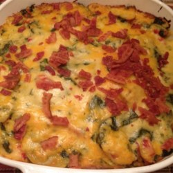 Spinach, Potatoes, and Bacon Au Gratin Recipe