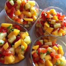 Mango, Peach and Pineapple Salsa Recipe