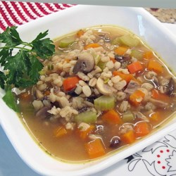 Very Easy Mushroom Barley Soup Recipe