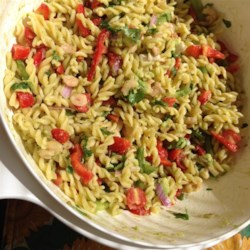 Lime-Shrimp Avocado Pasta Salad Recipe